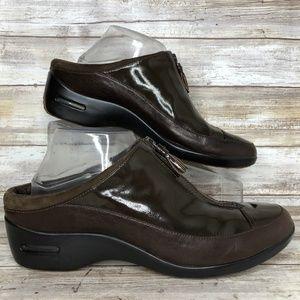 Cole Haan Luna 9.5M Brown Waterproof Leather Clogs